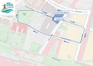 Seestadtlauf 2021 - Strecke Kinder & Junior